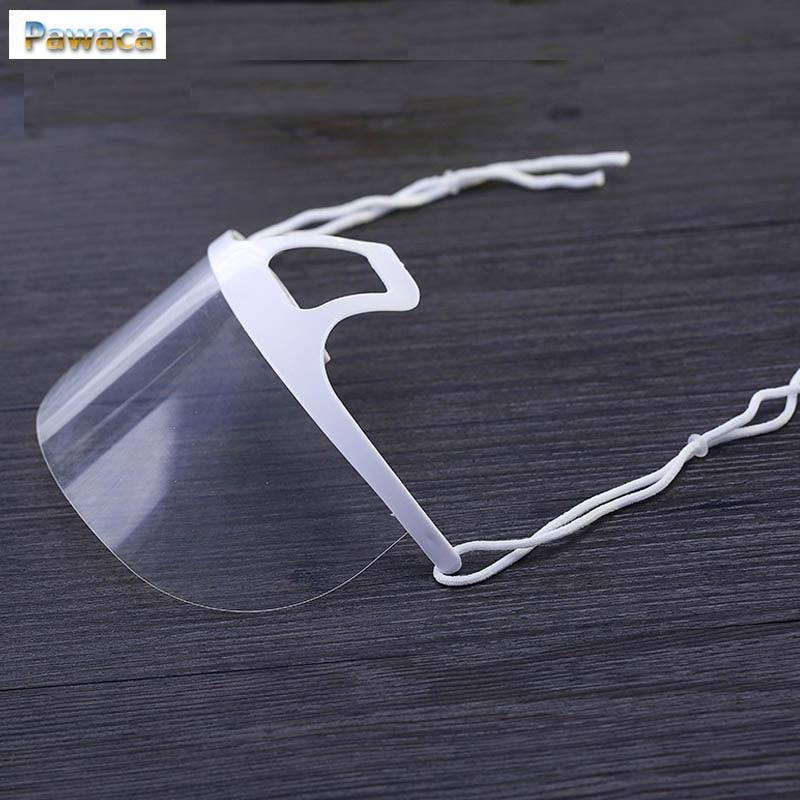 10pcs Transparent Beverage Mask Environmental-friendly Anti Fog Saliva For Food Restaurant Kitchen Smile Food Beauty Masks