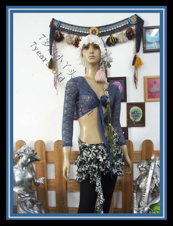 .Lace Belly Dance Top Gypsy Bohemian Top Korea Lace 9 Sleeve Top DM60