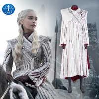 Manluyunxiao Game of Thrones Season8 Halloween Kostüm Daenerys Targaryen Sets Frauen Mantel Kleider