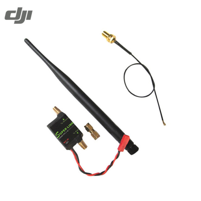 US $22 36 10% OFF  DJI Phantom Spare Part 2 4G 2W Radio Signal Booster  Antenna Feeder For FPV Racing Drone Transmissions TX Extend Range-in