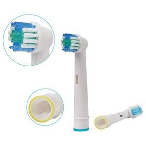 Image 5 - 20 قطعة عن طريق الفم B استبدال رؤوس لفرشاة الأسنان ل براون فرشاة أسنان كهربائية حيوية حساسة فوهات الأسنان تبييض SB 17