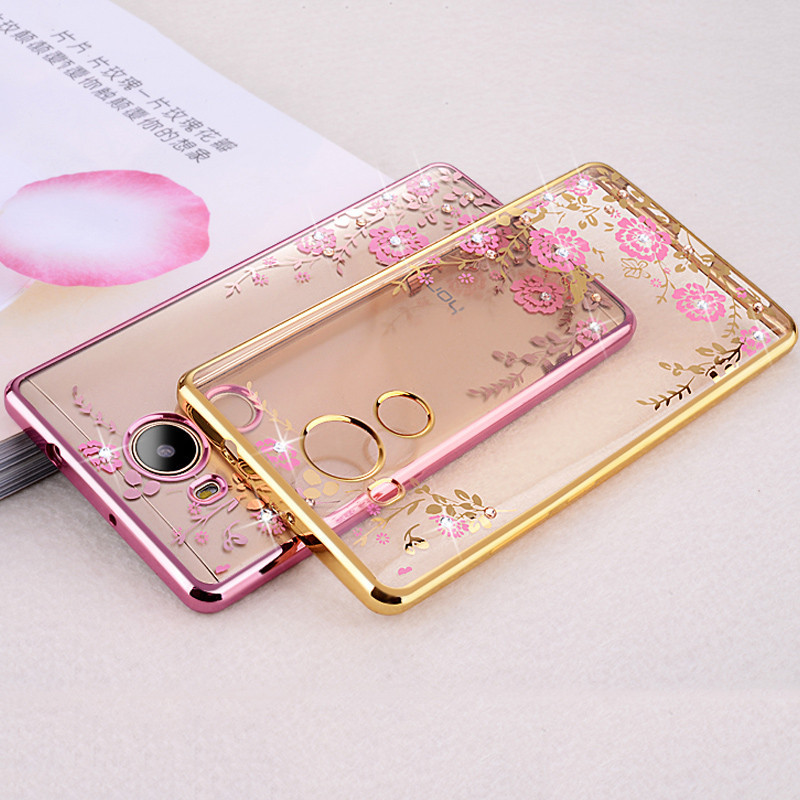 For-Huawei-Honor-6C-Case-Luxury-Plating-frame-Gilded-Glitter-Crystal-TPU-silicone-soft-Back-Cover (3)