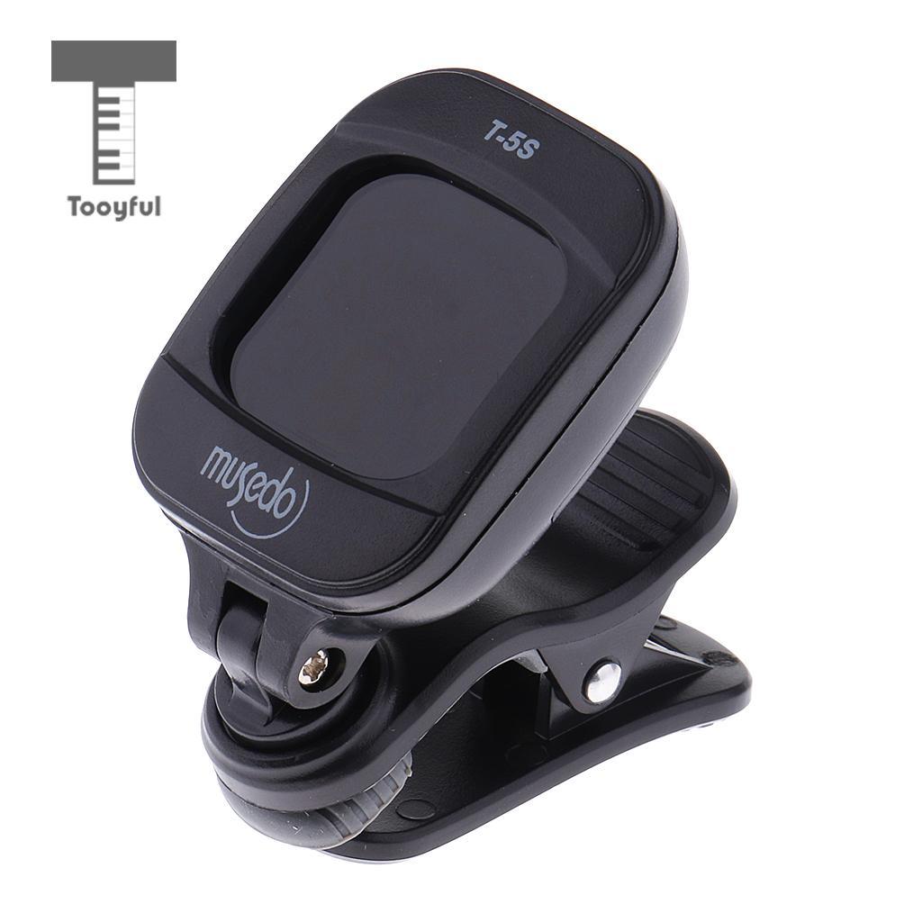 Tooyful Musedo T-5S Clip-on Guitar Tuner Rotatable LCD Mini Digital for Guitar Bass Violin