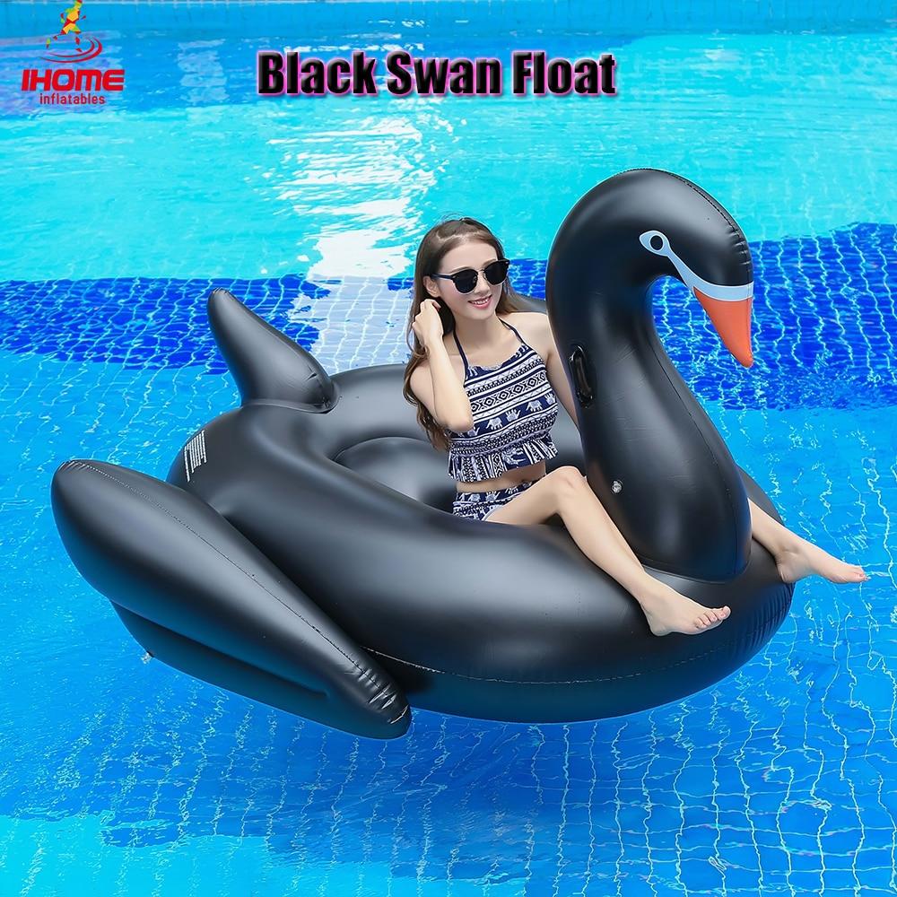 1.9m pvc černá labuť nafukovací vodní float jezdec Letní jezero - Vodní sporty