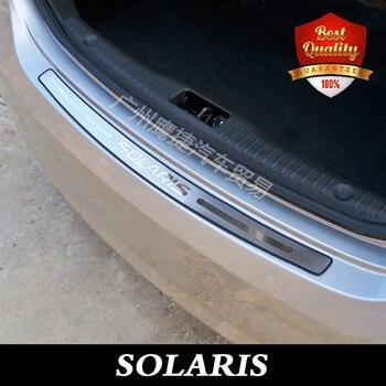 Para hyundai solaris 2010-2017 Retaguardas aço Inoxidável choques Traseiro protetor auto acessórios 1 pcs car styling