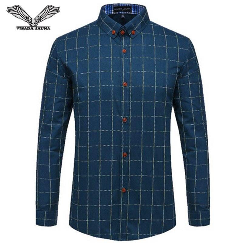 Férfi ingek 2017 új tavaszi divat Slim Fit hosszú ujjú férfi - Férfi ruházat