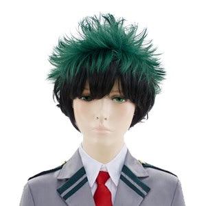 Image 1 - HSIU חדש Izuku Midoriya פאת קוספליי שלי גיבור האקדמיה תלבושות לשחק פאות ליל כל הקדושים תלבושות שיער משלוח חינם באיכות גבוהה