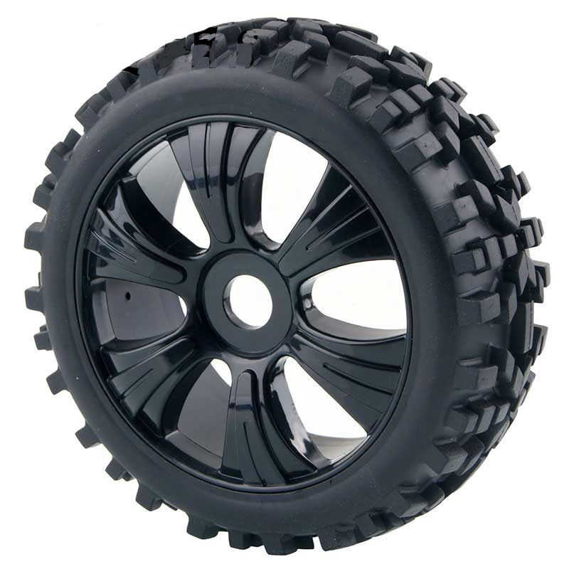 4Pcs 1/8 Off road vehicle tire Road tire 82B-807 MP9 oil driven off-road racing version of drummer tyre 17mm Wheel Rims Hex Hub front hub city road lion disc brakes front wheel tire rims
