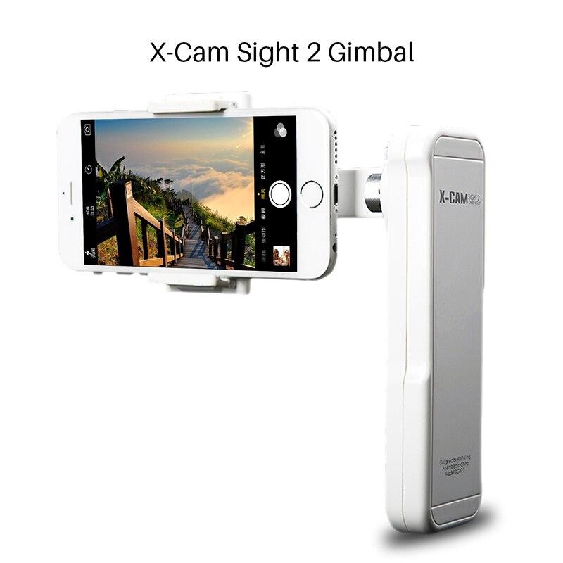 Ulanzi X-Cam Vue 2 Axes Smartphone Tenu Dans la main Sans Balais Cardan Stabilisateur Vidéo Mobile stabilisateur Steadycam pour iPhone Samsung