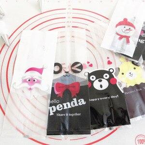 Image 3 - Marebell 30pcs חג המולד שקיות לאריזת עוגיות דביק נייר Cartoon סנטה קלאוס מסיבת ילדי של יום ביסקוויט אפיית אריזה