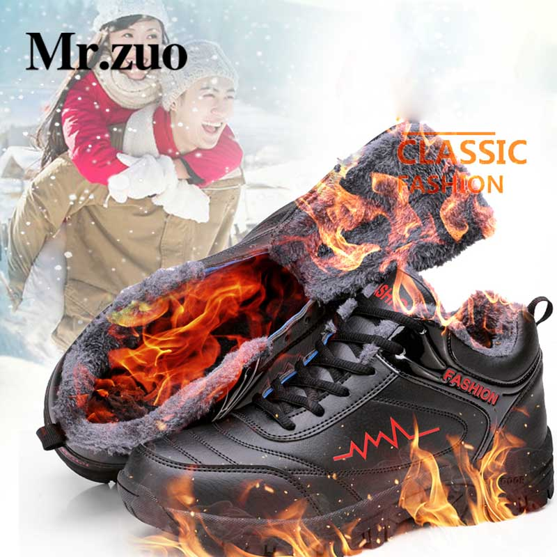 Winter Men Sneakers 2018 New Running Shoes For Men Sports Shoes Outdoor Run tennis Trainers Athletic Fur Inside