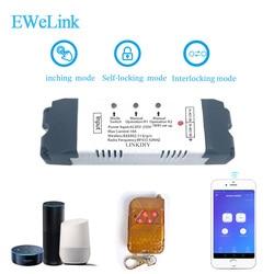 Inteligentny włącznik wifi bezprzewodowy moduł przekaźnikowy inteligentna automatyka domowa do dostępu do komputera DC7V/12 v 24v 32v Inching/samoblokujący IOS w Moduły automatyki domowej od Elektronika użytkowa na