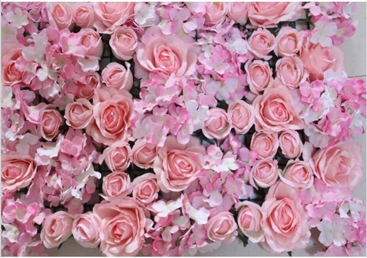 10pcs/lot big size hot pink Artificial silk rose flower wall wedding flower backdrop Decoration