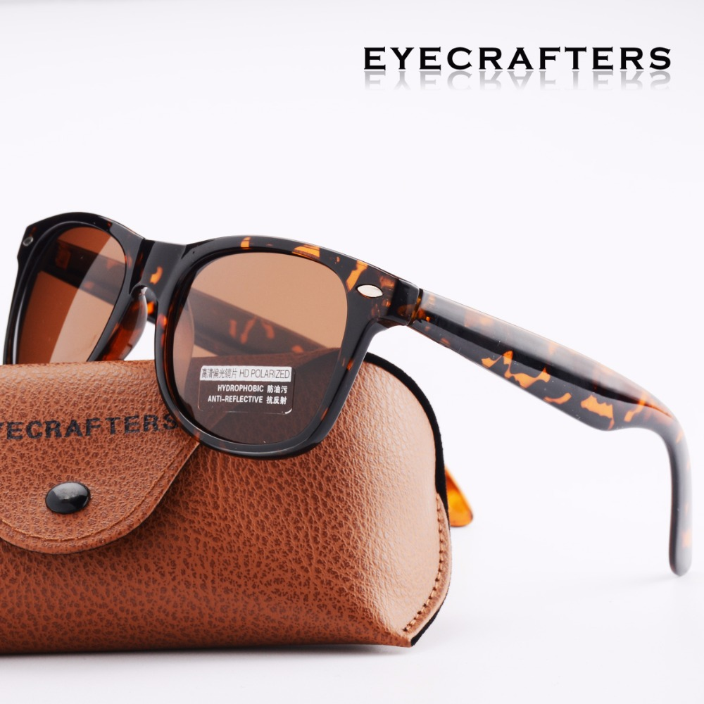 Schildkröte Retro Sonnenbrille Brillen Mode Eyecrafters Vintage Mens Frauen Polarisierte Sonnenbrille Fahren Gespiegelt UV400 2140 Braun