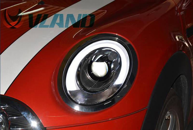 Vland Car Lamp for BMW Mini LED Headlight F55 F56 LED Front Lamp LED Bar for Year Model 2014-17 plug and play free shipping vland car lamp for toyota fj cruiser led headlight taillight front grill plug and play design fit model 2007 2015