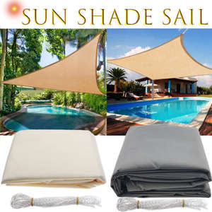 Outdoor Canopy Awning Shade-Cloth SUN-SHELTER Garden-Patio-Pool Triangle Waterproof Camping