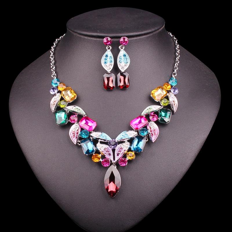 Aliexpress Com Buy New Fashion Necklace Earrings Bridal: Aliexpress.com : Buy Fashion Silver Plated Crystal