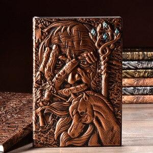 Image 2 - Vintage Magazine cahier Magazine carnet de croquis journal daffaires livre Style médiéval sculpté à la main magicien cadre en relief profond