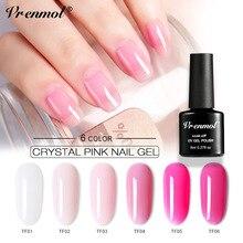 Vrenmol, 8 мл, французский, телесный, прозрачный, розовый цвет, сахарный гель для ногтей, лак для ногтей, УФ-гель, гибридные Лаки, Полупостоянный клей для ногтей