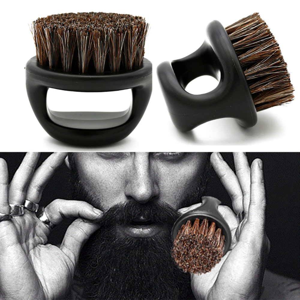 Black ABS Plastic Bristle Shaving Brush Beard Brush Scheerkwast  Barber Brush Brosse Barbe Cepillo Barba Szczotka Do Brody