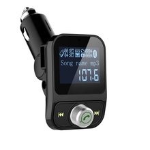 Car MP3 Music Player Support WMA Hands Free Built-in Microphone Voice Prompt CVC Noise Cancellation Auto FM Transmitter