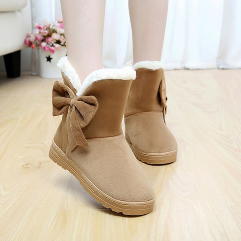 Hot Sale Winter Women Casual Boots Solid Color Woman Snow Boots Soft Round Toe Female Women Shoes Lady Footwear 2018 SMC905 cool pu plain round toe men s snow boots sale