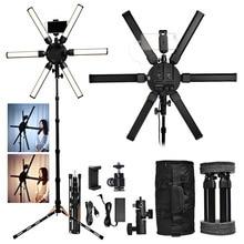 Fusituการถ่ายภาพแสง3200 5600KมัลติมีเดียExtreme 60W Led Star Lightวิดีโอโคมไฟขาตั้งกล้องสำหรับกล้องโทรศัพท์แต่งหน้า