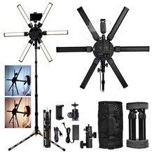 Fusitu Anillo de luz Led para fotografía, lámpara de vídeo con trípode para cámara, maquillaje de teléfono, 3200 5600K Multimedia Extreme 60W