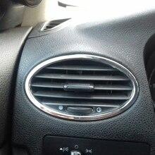 VCiiC автомобильные аксессуары ABS Хромированная Автомобильная вентиляционная накладка Рамка для украшения выходного отверстия автомобильный Стайлинг для Ford Focus 2 2005-2013