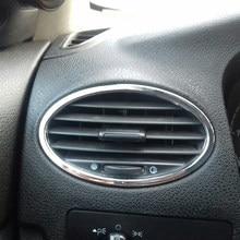 VCiiC – accessoires de voiture ABS chromé, garniture de sortie d'air, cadre de décoration, style de voiture pour Ford Focus 2 2005 – 2013