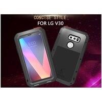 Cassa Del Telefono Del Metallo AMORE MEI per LG V30 Dropproof antipolvere Shockproof Caso di Telefono cellulare per LG V30 Smartphone Coque Capa-Nero