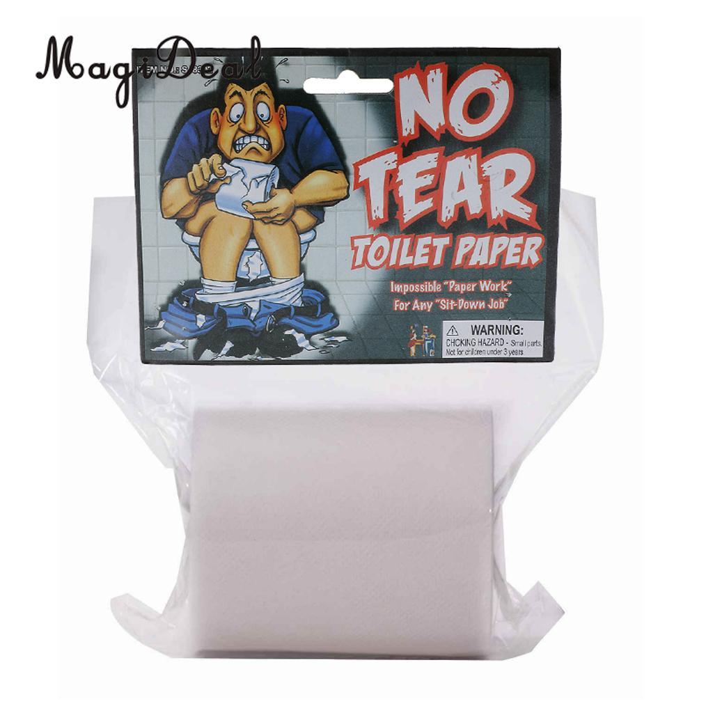 1 Roll of No Tear Toilet Paper Look Feel Real Trick Party Joke Prank Prop Novelty Gag Gift