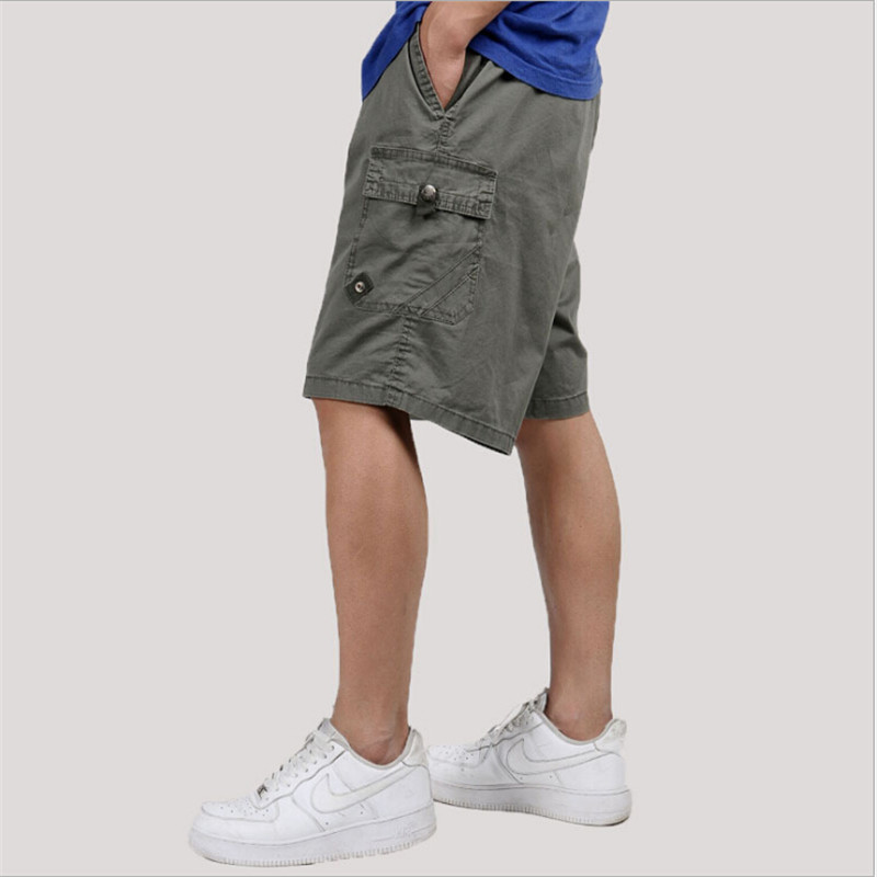 Plus Size Man Cargo Short Summer 5Xl 6Xl Causal Fashion Male Army Green Shorts Men Loose With Pockets Cotton Mens Shorts A3165