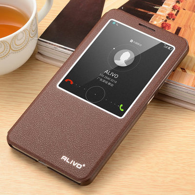 100 Official Original Huawei Mate 7 Window View Flip Leather Cover Case For Huawei Ascend Mate