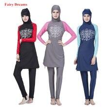 96151bb2f58 Muslim Swimwear swimming clothes Islamic Women Modest Hijab Plus Size  Burkinis Wear Bathing Suit Beach Full Coverage Swimsuit