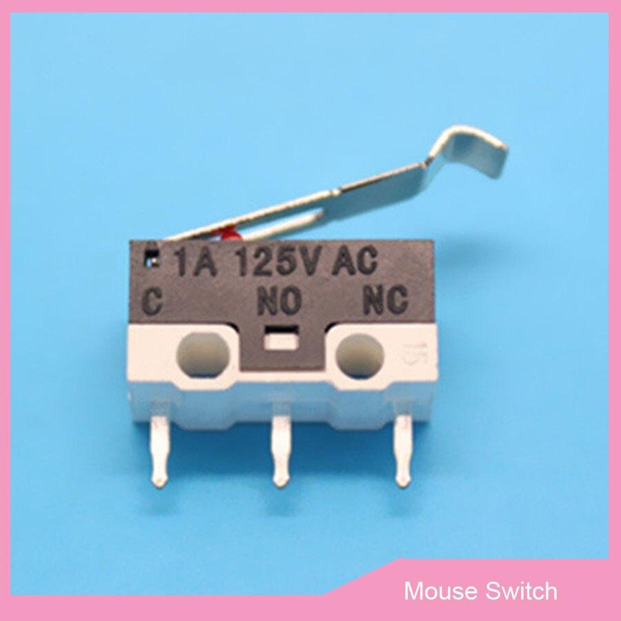 10 Stks 3 P Muis Switch Klik Schakelaar Met Gebogen Handvat Verticale 3pin 1a 125 V Ac Rechthoekige Switchs Mini Micro Drukknop Schakelaar Opruimingsprijs