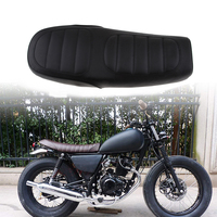 1 Set Black Motorcycle Cafe Racer Seat Custom Vintage Saddle Flat Pan Retro Seat For Honda CB125S CB200 CB350 CL350 CB400