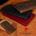 Pierre Cardin Funda de cuero genuino para LG G4 G5 G7 V30 V20 clásico de lujo Anti-caída de teléfono cubierta envío gratis