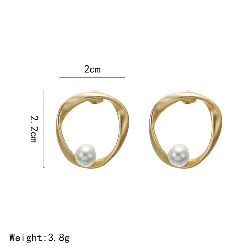 2019 Fashion Anting-Anting Vintage Tidak Teratur Mutiara Anting-Anting untuk Wanita Brincos Geometris Korea Earringsdiy Hadiah Perhiasan Pesta Pernikahan