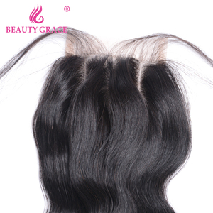 Image 5 - Beauty Grace Peruvian Hair Body Wave Lace Closure With Baby Hair 4x4 Remy 100% Human Hair Middle Free Three Part Top Closures