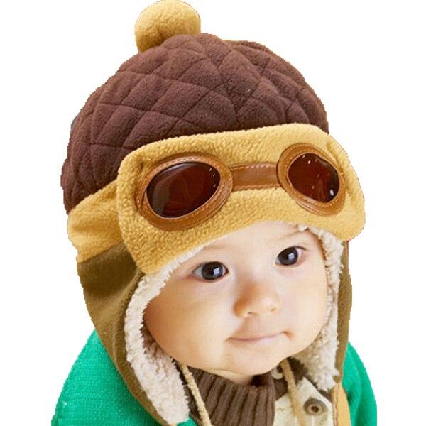 Retail Unisex Winter Pilot Aviator Warm Bomber Hats Children Patchwork Earmuffs Ear Cap New Kids Earflap Protection MZ1674