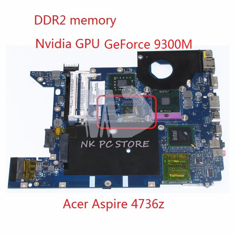 MBWAZ02001 MB.WAZ02.001 For Acer aspire 4735 4935 4736 Laptop Motherboard KALH0 LA-4492P DDR2 PM45 GeForce 9300M Free CPU