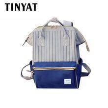 Tinyat холстины женщин kanken рюкзак 2017 марка мода женщины рюкзак школьные сумки девушки путешествия back pack портативный bagpack w41