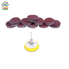 100PC 50mm Sander Disc Sanding Disk 40-400 Grit Paper with 2 inch Abrasive Polish Pad Plate fit Dremel 4000 Electric Grinder