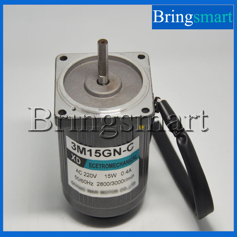 Bringsmart 220V AC Motor High Speed Motor 15W Optical Axis 1400/2800rpm Reversible Regulation Motor +Speed Controller bringsmart 60w ac speed regulating motor 220v miniature optical axis motors 1400 1700 rpm high speed motor with speed governor