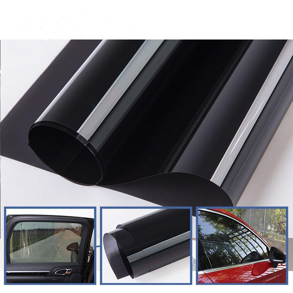 1.52x30 m rouleau 10% VLT teinte de fenêtre teinte solaire haute UV Film de Projection verre autocollant voiture maison fenêtre Film 60''x100ft