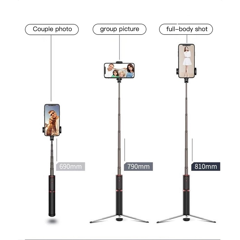 TRAVOR Tripod Monopod Selfie Stick Bluetooth Portable Handheld Selfie Stick 3 in 1 For iPhone Samsung Huawei Xiaomi Android in Selfie Sticks from Consumer Electronics