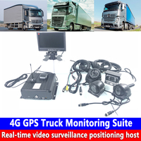 Coaxial HD 4 channel monitoring 256G SD card monitoring system 4G GPS truck monitoring kit sanitation truck / school bus / bus