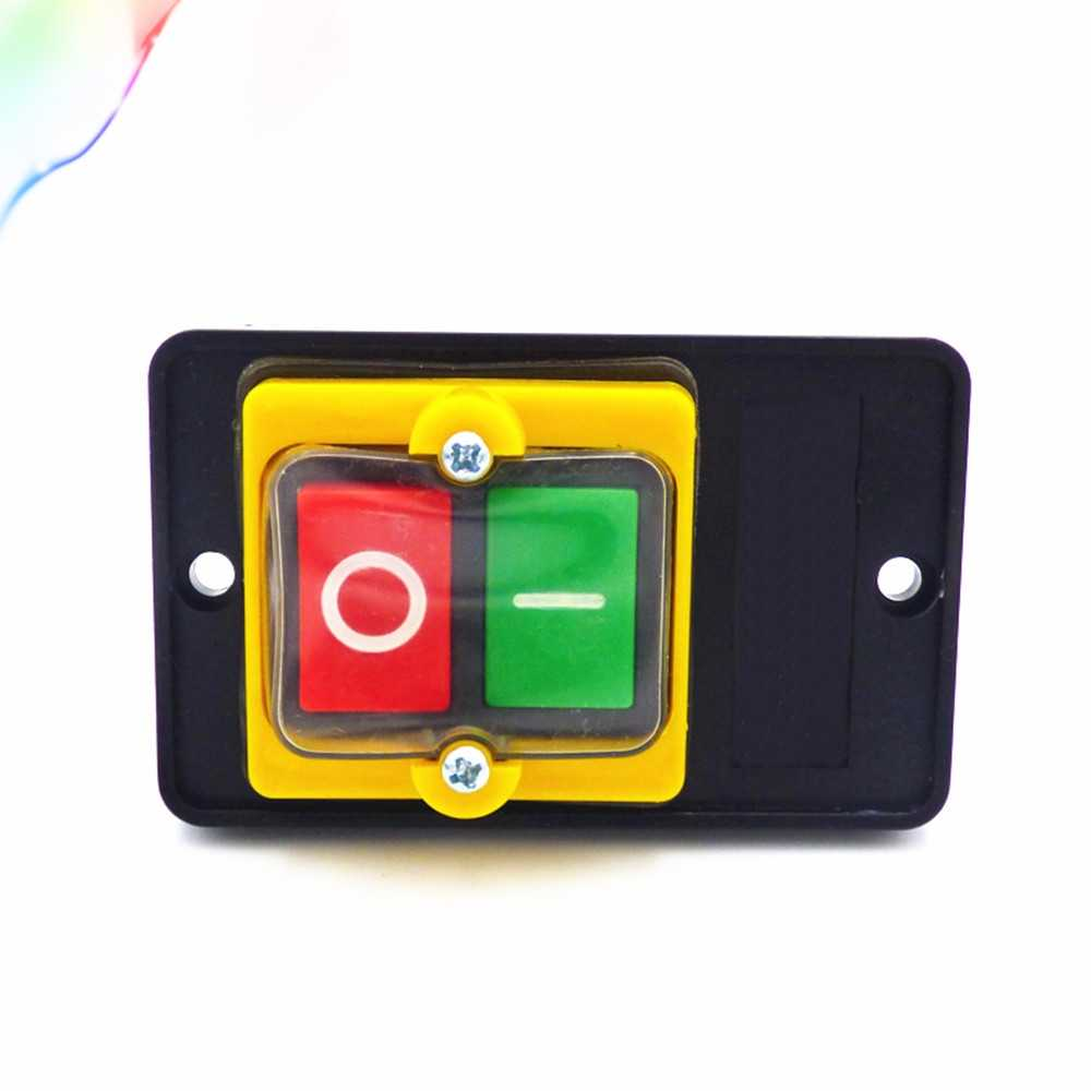 AC220V/380V 10A ON OFF 3 Phase Plastic Power Start Switch KAO-5M 50HZ/60HZ Waterproof Push Button Switch