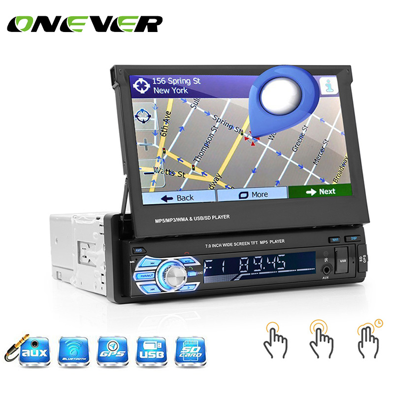 7 Retractable Autoradio GPS Bluetooth Navigation Car Radio MP5 Player Touch Screen Car Styling Car Accessories